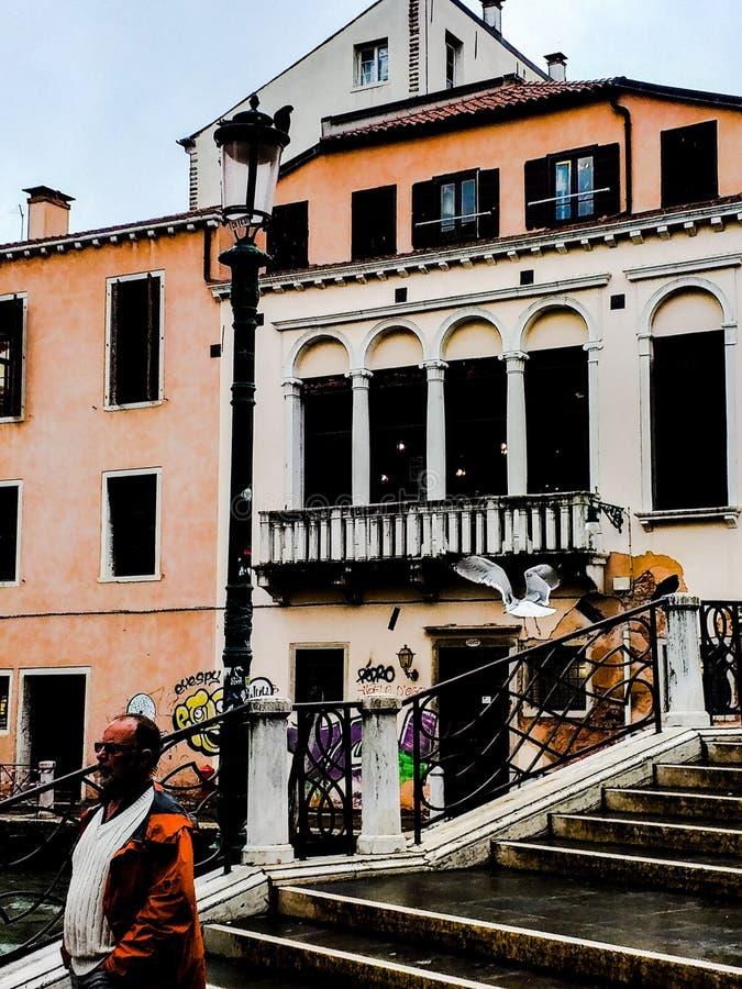 Venise photos prises pendant un jour pluvieux près de la station de train photo stock