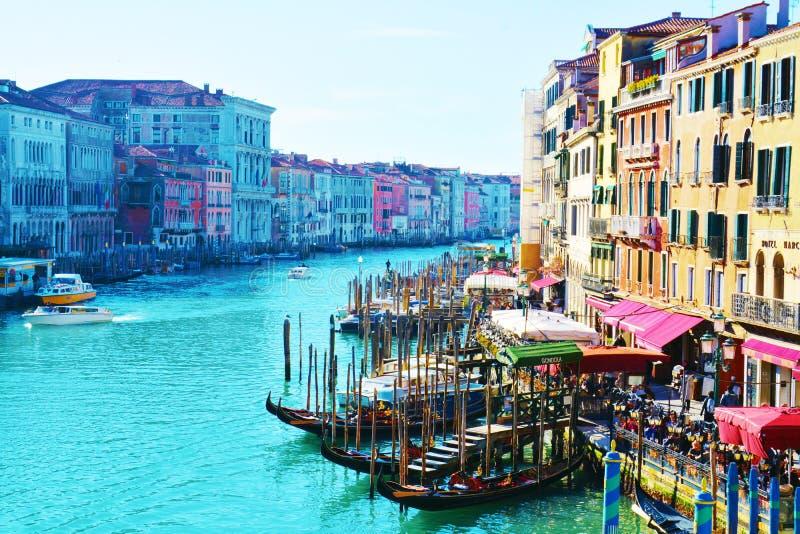 Venise Vue de passerelle de Rialto photographie stock libre de droits