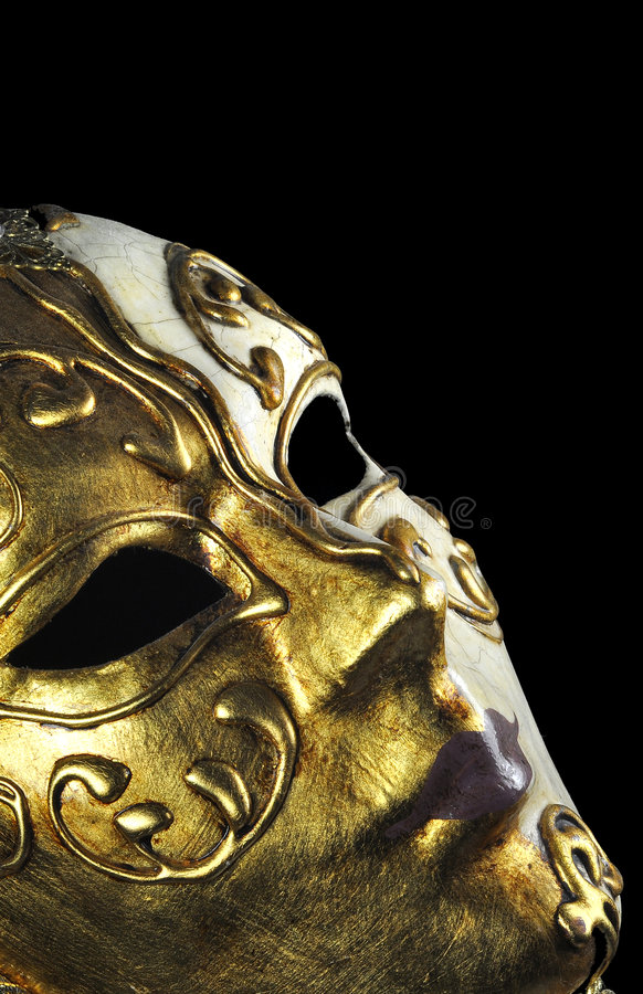Venitian mask profile royalty free stock photography