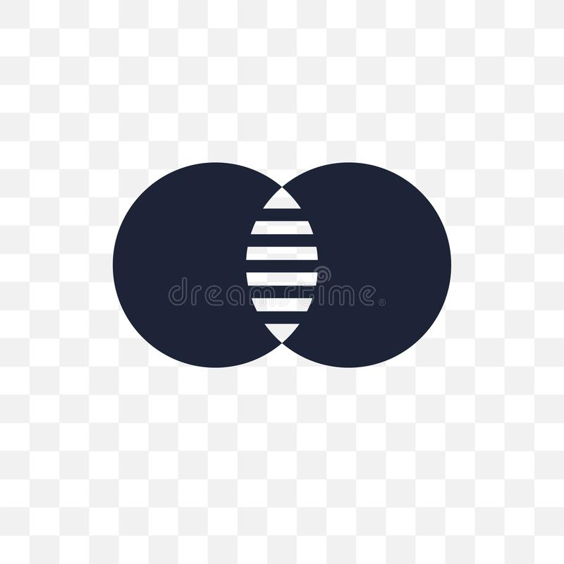 Venn-diagram transparant pictogram Het ontwerp van het Venn-diagramsymbool van A stock illustratie