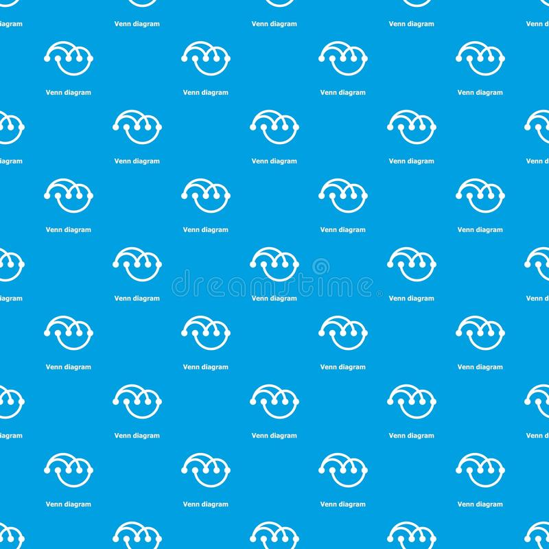 Venn diagramm pattern vector seamless blue. Repeat for any use vector illustration