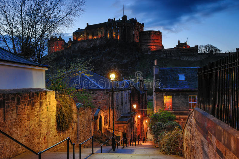 The Vennel in Edinburgh royalty free stock photography