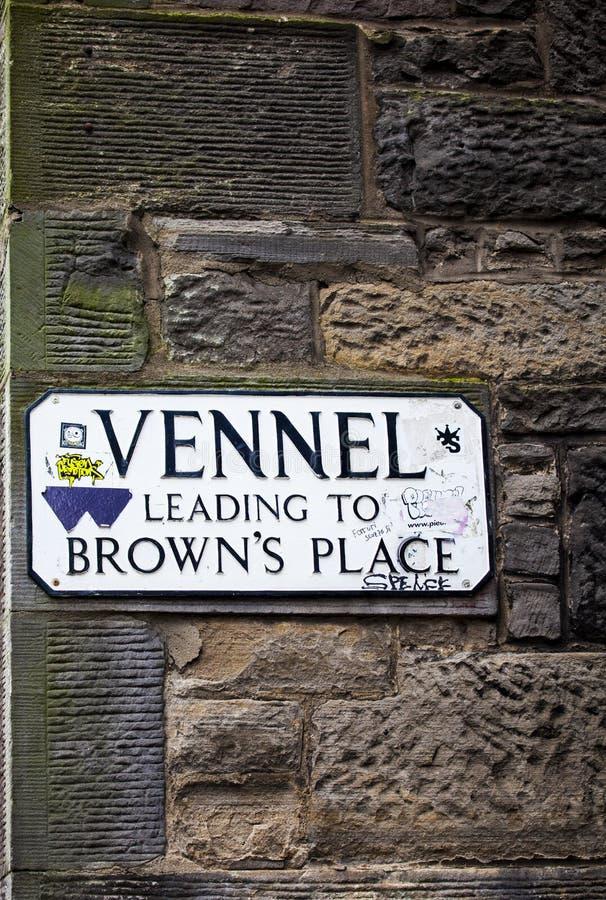 Vennel i Edinburg royaltyfri foto
