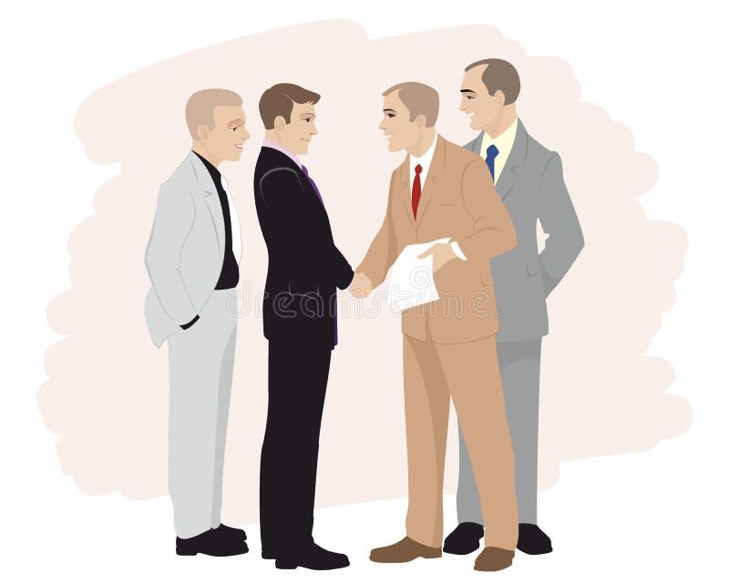 Vennootschap in zaken royalty-vrije illustratie