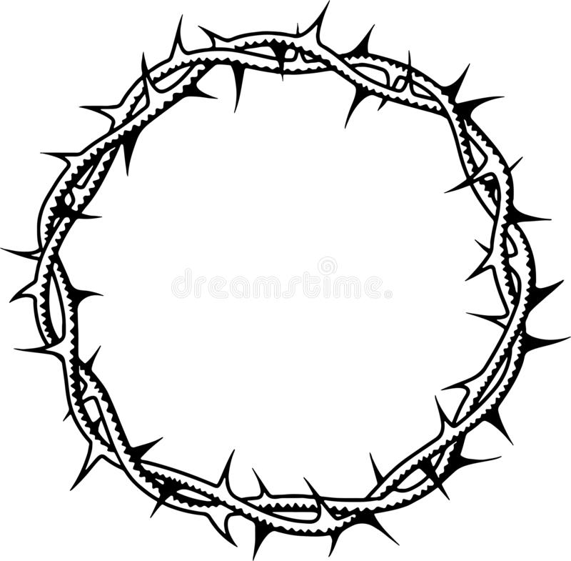Crown of thorns of jesus christ stock photos