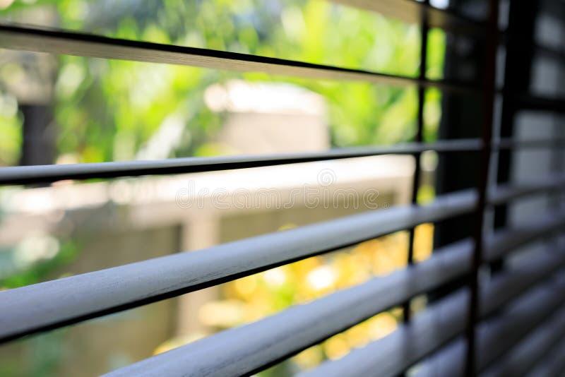 Venster blinde binnenhuisarchitectuur stock afbeelding