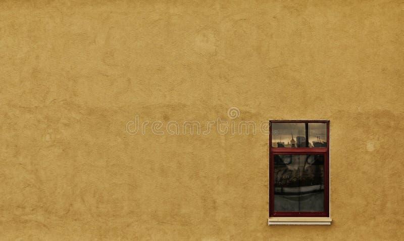 Venster in de Muur stock afbeelding