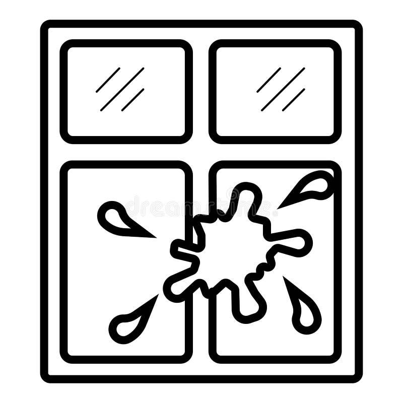 Venster die vloeibaar pictogram schoonmaken vector illustratie