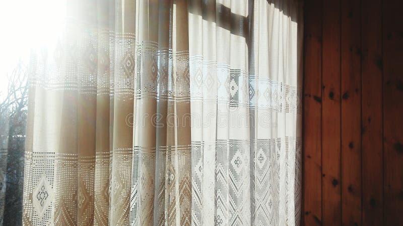 Venster en zonlicht royalty-vrije stock afbeelding