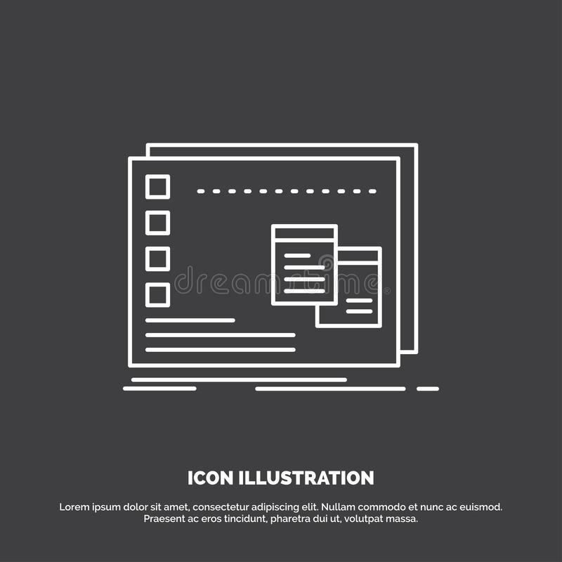 Venster, operationeel MAC, os, programmapictogram Lijn vectorsymbool voor UI en UX, website of mobiele toepassing royalty-vrije illustratie