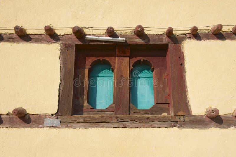 Venster van een traditioneel Ethiopisch huis, Adwa, Ethiopië stock foto