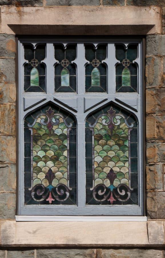 Venster 6 van het gebrandschilderd glas royalty-vrije stock afbeeldingen
