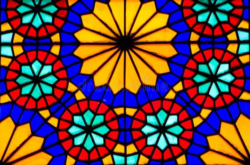 Venster 6 van het gebrandschilderd glas stock fotografie