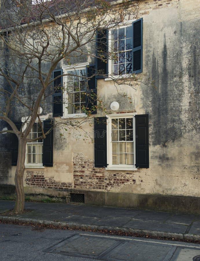 Vensters en van vensterdozen de versieringen van plantersvertoningen verbeteren architectuur stock foto