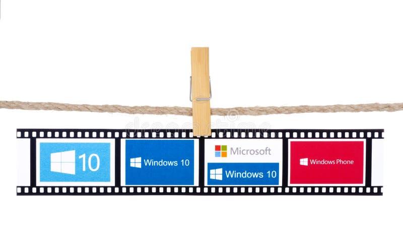 Vensters 10 het besturingssysteem door Microsoft wordt ontwikkeld dat stock foto's