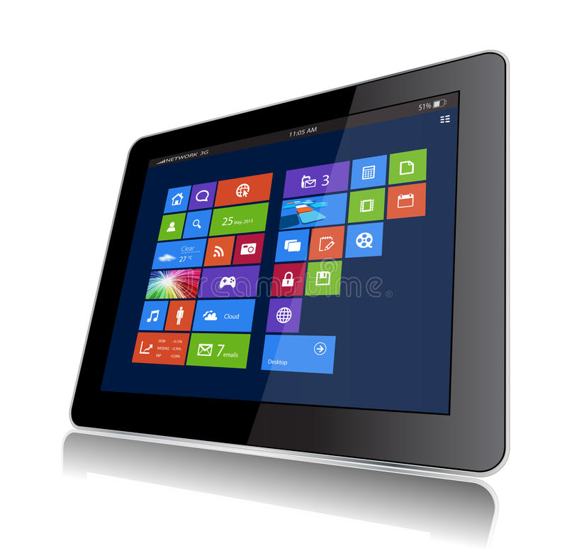 Vensters 8 Tablet vector illustratie