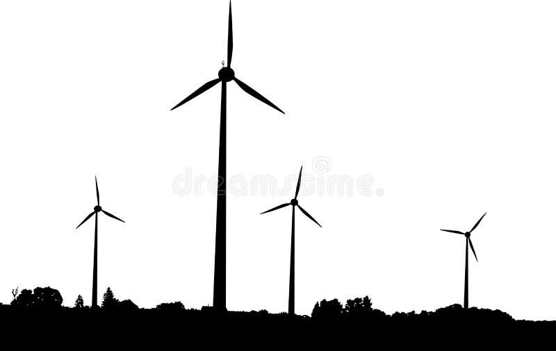 vent de générateurs illustration libre de droits