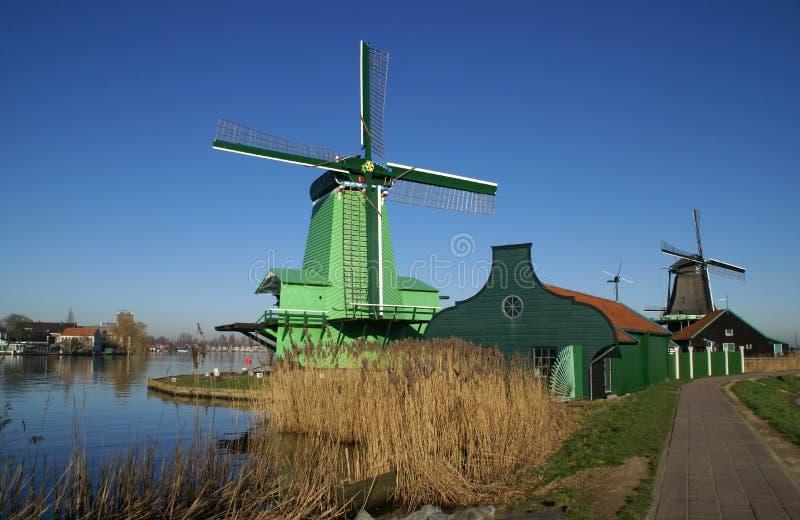 vent de poelenburg de moulin de de gekroonde image stock