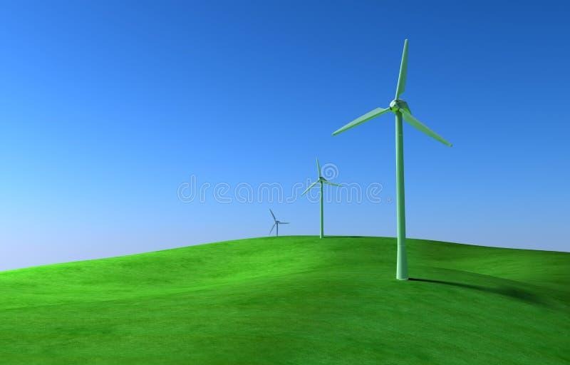 vent de turbines illustration libre de droits