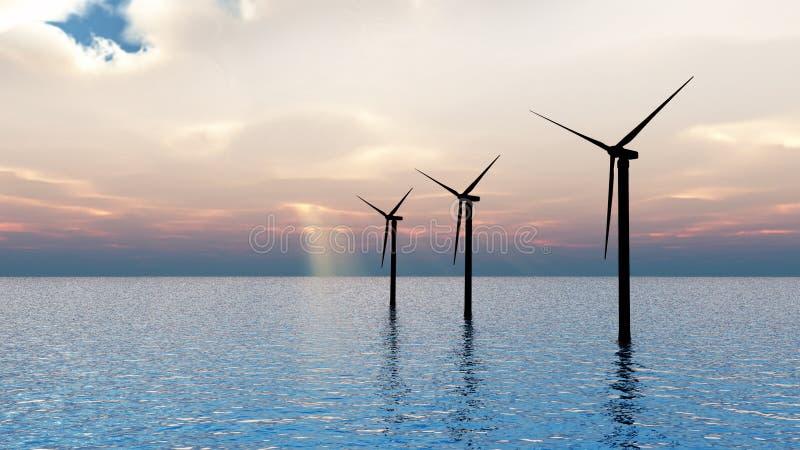 vent de turbines de mer images stock