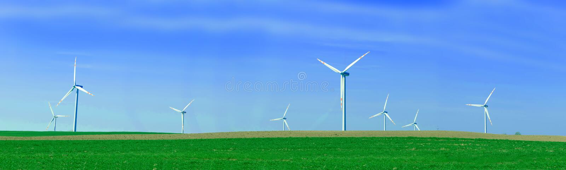 vent de turbines de panorama images libres de droits