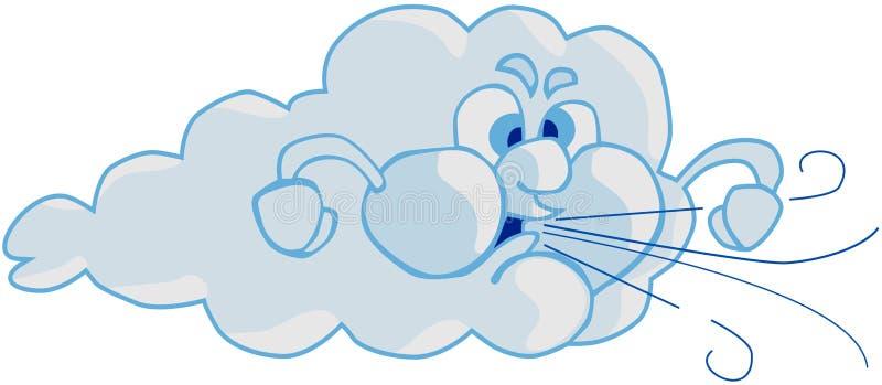 Vent et nuage illustration de vecteur