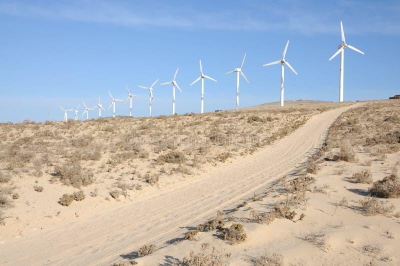 vent renouvelable de turbines d'énergie images stock