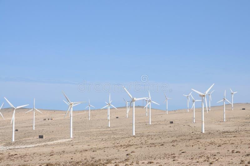 vent renouvelable de turbines d'énergie photographie stock