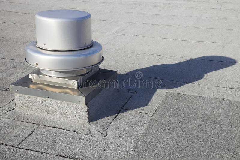 Vent on the roof. Of the building stock photo