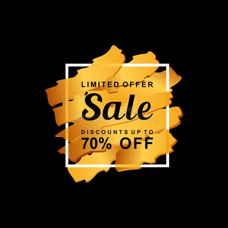 Venta abstracta, oferta limitada, descuentos, el 70% apagado, bandera de la venta en fondo libre illustration