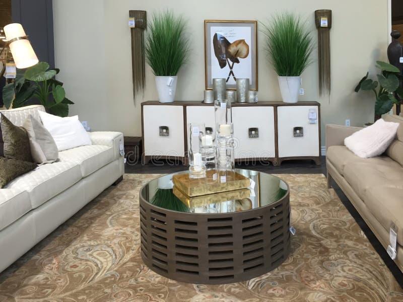Venta agradable de los muebles de la sala de estar imágenes de archivo libres de regalías
