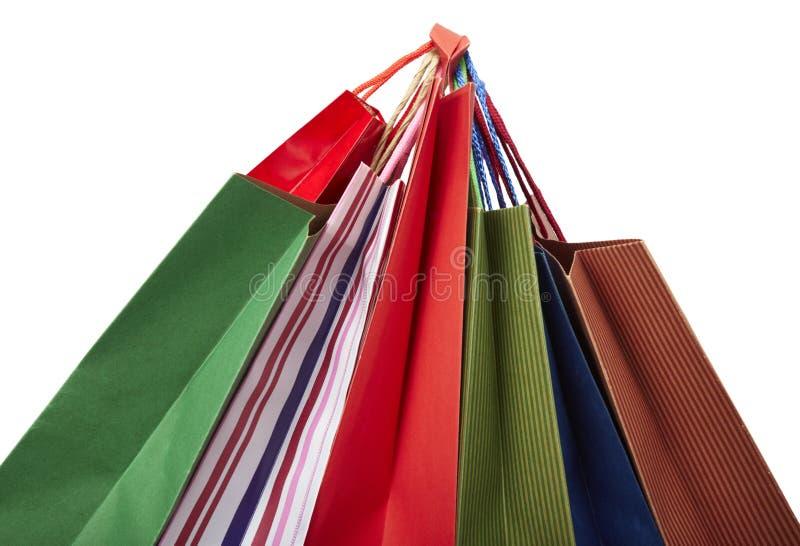 Venta al por menor del consumerismo del bolso de Shoping foto de archivo libre de regalías
