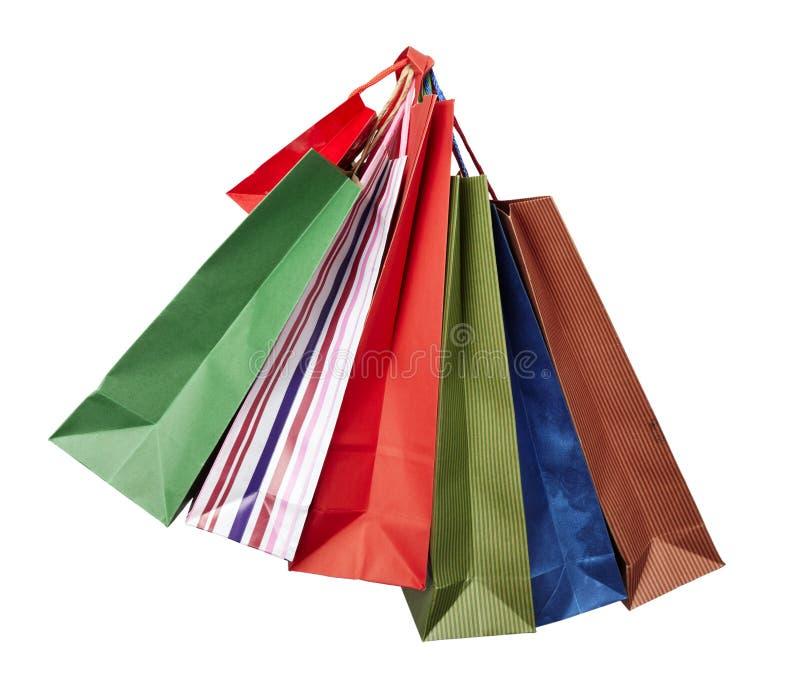 Venta al por menor del consumerismo del bolso de Shoping imagen de archivo libre de regalías