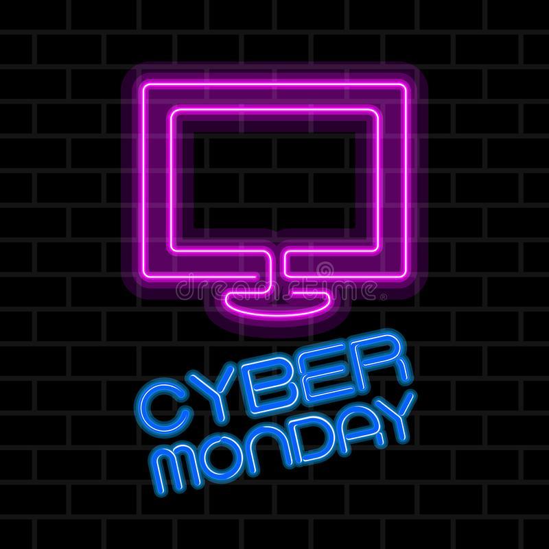 Venta cibernética de lunes ilustración del vector