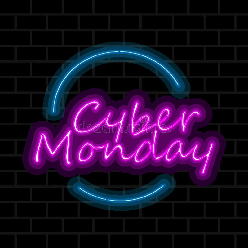 Venta cibernética de lunes libre illustration
