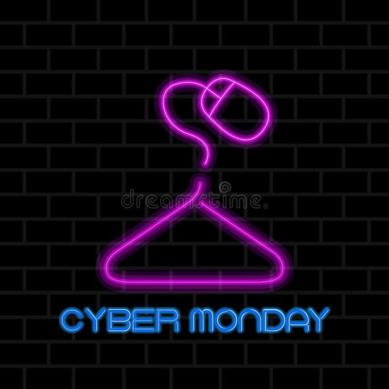 Venta cibernética de lunes stock de ilustración