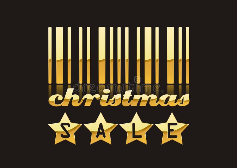 Download VENTA de la Navidad ilustración del vector. Ilustración de original - 7276394