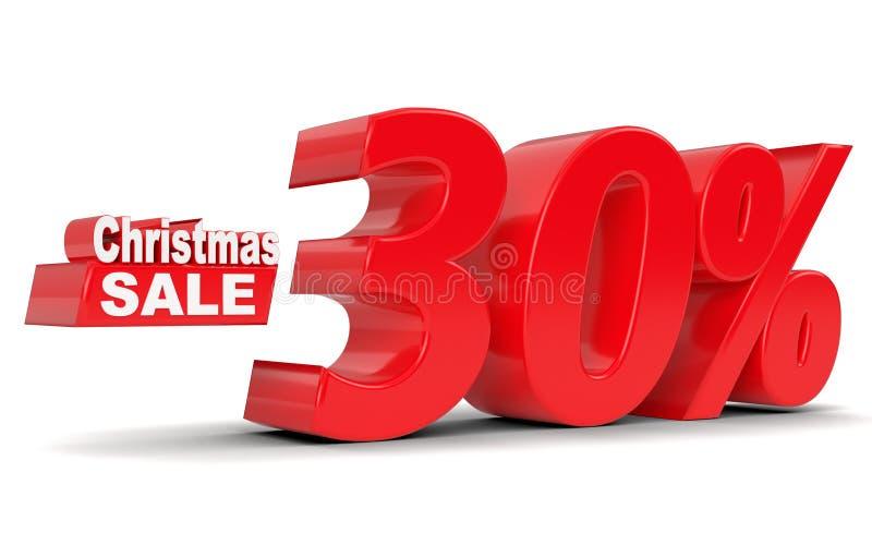 Venta de la Navidad Descuento el 30 por ciento apagado libre illustration