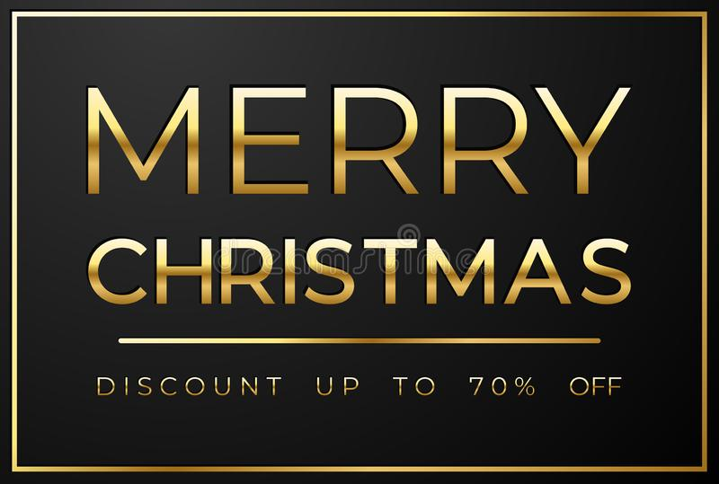 Venta de la Navidad en fondo negro ilustración del vector
