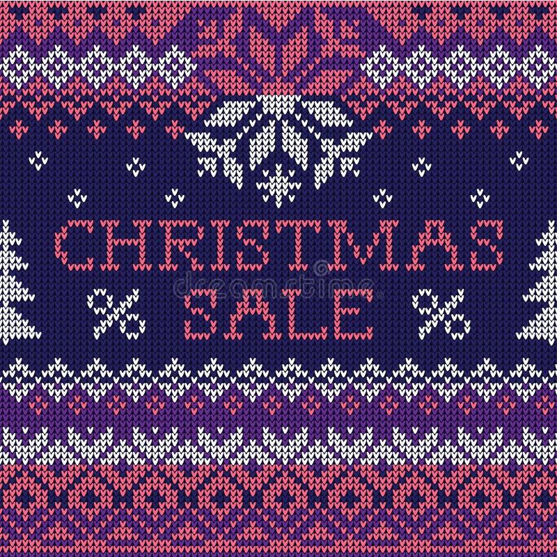 Venta de la Navidad: Modelo hecho punto inconsútil del estilo escandinavo libre illustration