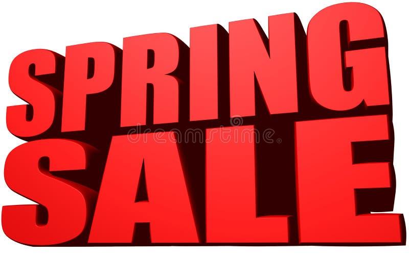 Venta de la primavera stock de ilustración