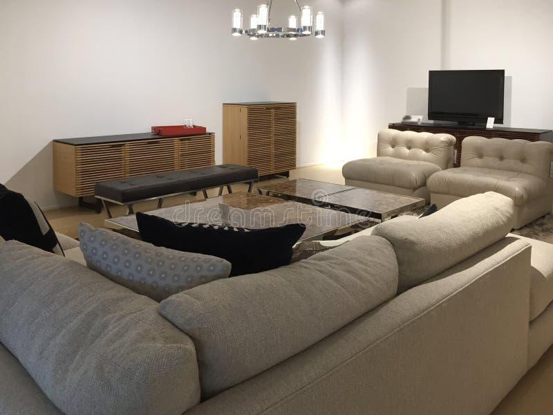 Venta de los muebles de la sala de estar fotografía de archivo