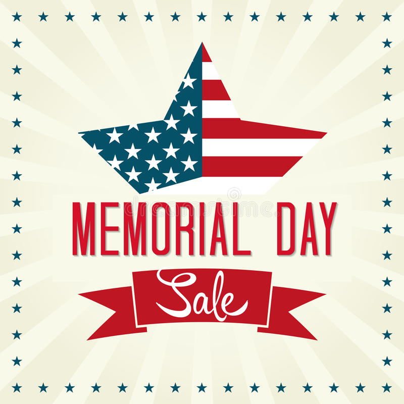 Venta de Memorial Day stock de ilustración