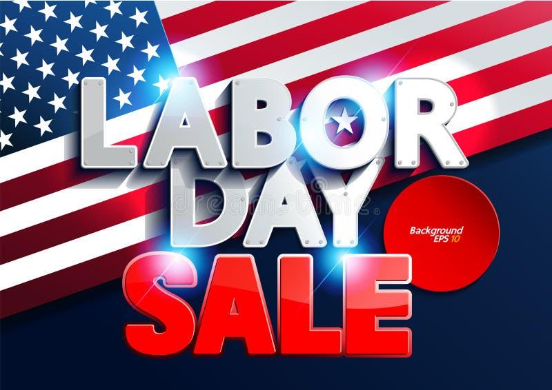 Venta del Día del Trabajo stock de ilustración