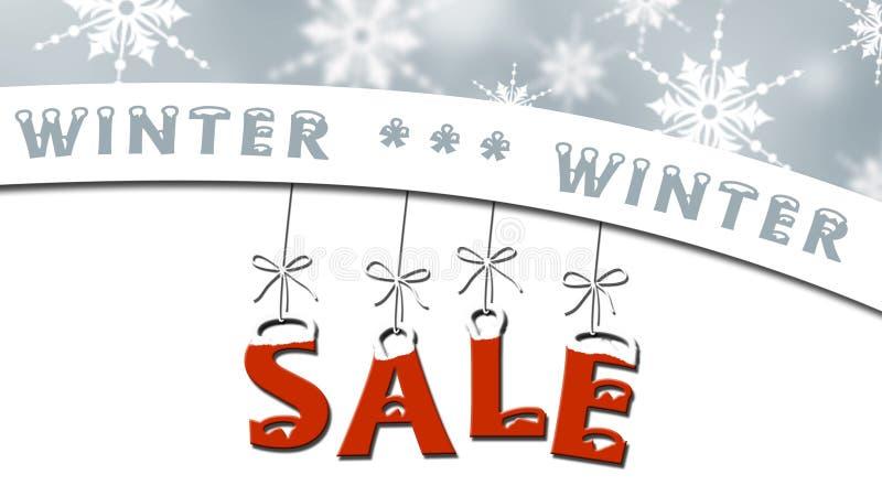 Venta del invierno - concepto de la venta del negocio libre illustration
