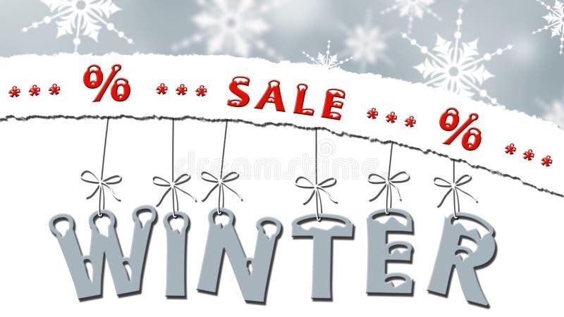 Venta del invierno - concepto de la venta del negocio ilustración del vector