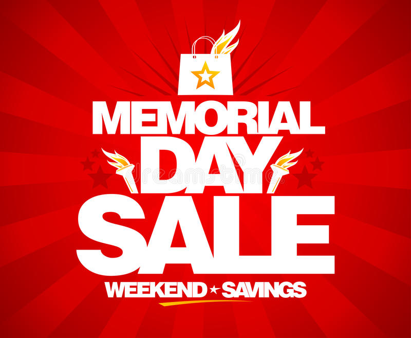 Venta del Memorial Day, ahorros del fin de semana libre illustration