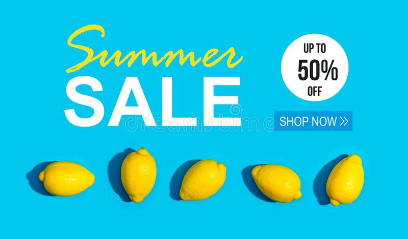 Venta del verano con la serie de limones libre illustration