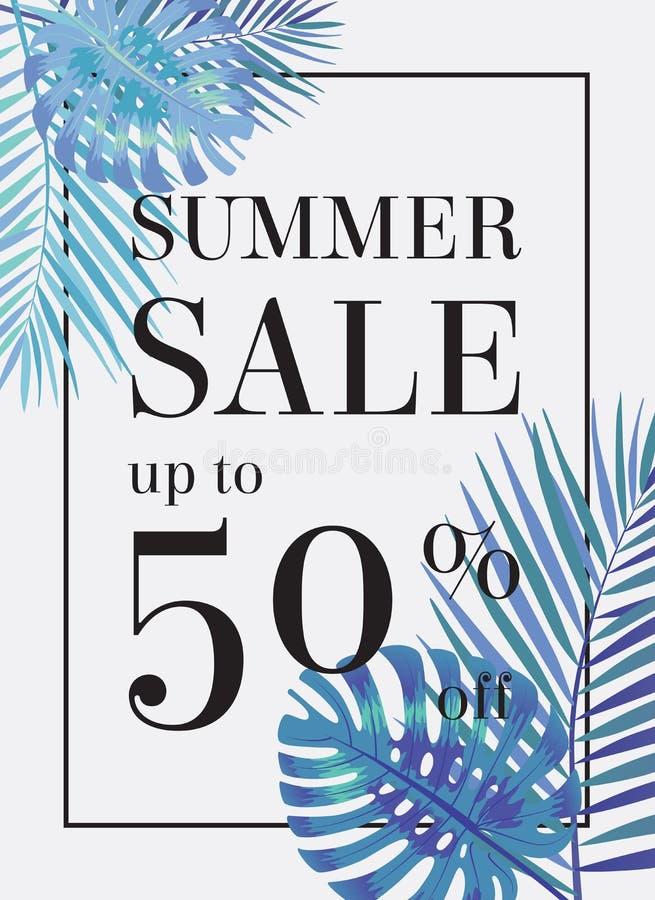 Venta del verano encima del tu el 50 por ciento apagado Web-bandera o cartel libre illustration