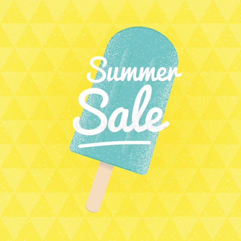 Venta del verano Fondo triangular del vector con helado libre illustration